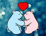 Disegno Orsi polari amore pitturato su Francy803