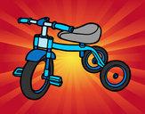 Disegno Triciclo per il bambini pitturato su biscotto