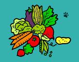 Disegno verdure  pitturato su Teopolpy
