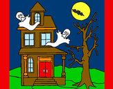 Disegno Casa del terrore pitturato su STAN