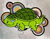 Disegno Anchilosauro pitturato su Lakibox