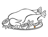 Disegno Pollo con guarnizioni pitturato su Danix75