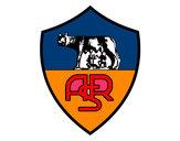Disegno Stemma del AS Roma pitturato su rinoceront