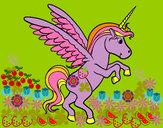 Disegno Giovani Unicorn pitturato su Topide