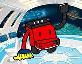 Disegno Robot di pulizia pitturato su Francesc09