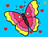 Disegno Farfalla 13 pitturato su jacopoegem