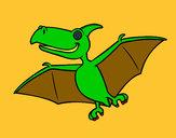 Disegno Pterodactylus pitturato su dieguito