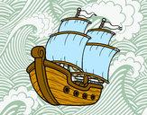 Disegno Barca a vela pitturato su gabry73