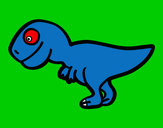 Disegno Giovane Tirannosauro rex pitturato su GABRIEL17