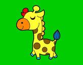 Disegno Giraffa vanitosa pitturato su GABRIEL17