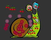 Disegno Lumaca felice pitturato su GABRIEL17