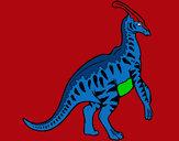Disegno Parasaurolophus a strisce  pitturato su GABRIEL17