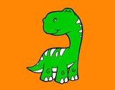 Disegno Sauropodo pitturato su GABRIEL17
