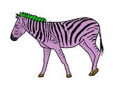 Disegno Zebra  pitturato su GABRIEL17