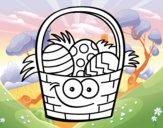 Paniere di uovo di Pasqua