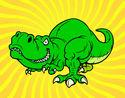 Disegno Tirannosauro rex pitturato su matteo2010