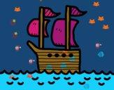 Barca in alto mare