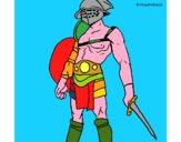 Disegno Gladiatore  pitturato su Achille
