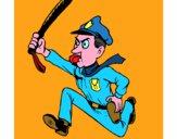 Poliziotto che corre