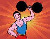 Disegno Il musculoso pitturato su Achille