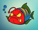 Disegno Pesce lanterna pitturato su Achille