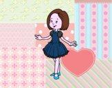 Ragazza con il vestito di principessa
