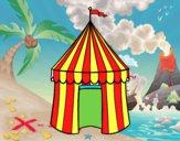 Disegno Tenda de circo pitturato su amirotto
