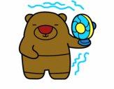 Orso con ventilatore