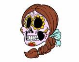 Teschio messicanocon le treccia