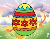 Uovo di Pasqua floreale
