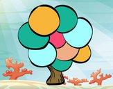 Albero con foglie rotonde
