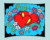 Disegno Cuori e fiori  pitturato su Alessia02