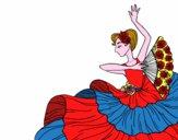 Disegno Donna flamenco pitturato su Gloriana