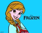 Disegno Frozen Anna pitturato su Alessia02