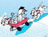 Disegno La carica dei 101 - Cuccioli hanno divertimento pitturato su Alessia02