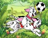 Disegno La carica dei 101 - Dalmati giocando a calcio pitturato su Alessia02