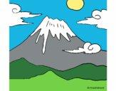 Disegno Monte Fuji pitturato su Stefy67