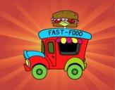 Food truck di hamburger