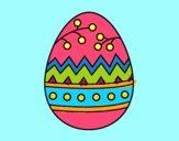 Disegno Un uovo di Pasqua pitturato su jeppa52