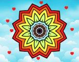 Mandala fiori de girasole