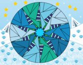 Mandala sole triangolare