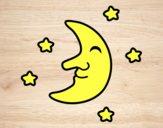 Luna con stelle