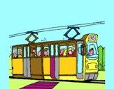 Tram con passeggeri