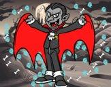 Disegno Dracula malvagio pitturato su Alexander