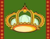 Disegno Corona pitturato su gaga
