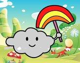 Nube con arcobaleno