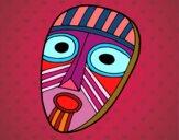 Disegno Maschera sorpresa pitturato su hiol