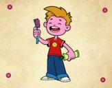 Bambino con spazzolino