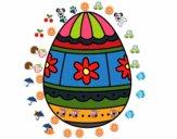 Uovo di Pasqua con decorazioni