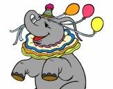 Elefante con 3 palloncini